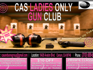 C.A.S. Ladies Basic Handgun Class 4/14 8am or 1pm