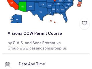 ARIZONA CCW PERMIT--CARRY IN 38 STATES!
