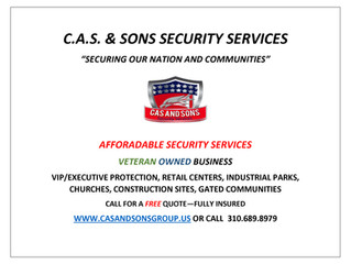 SECURITY SERVICES NOW AVAILABLE!