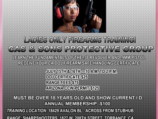 Ladies ONLY Firearms Training