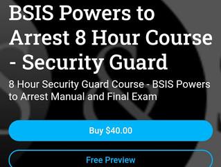 $40 On-Line Guard Card Training