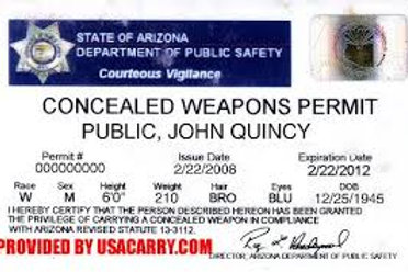 ARIZONA CCW PERMIT