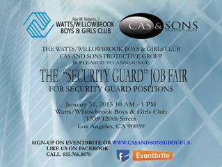 Security Guard Job Fair 1/31