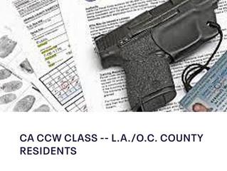 CA CCW TRAINING L.A./O.C. RESIDENTS