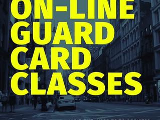 ON-LINE GUARD CARD CLASSES--TASER, OC & CA CCW!!