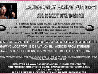 Ladies ONLY Fun Range Day 9/30
