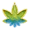 Thumbnail: Green and Blue Marijuana Leaf Ashtray or Trinket Tray