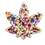 Thumbnail: Colorful Alcohol Ink Marijuana Ashtray or Trinket Tray with Embellishments