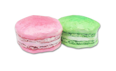 Pink and Green Macarons