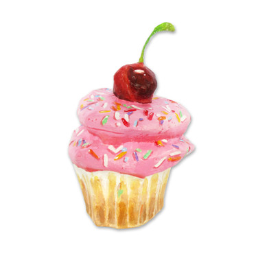 Pink Cupcake with Cherry
