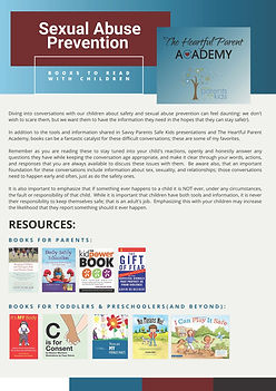 Child Sexual Abuse--Resources and Books