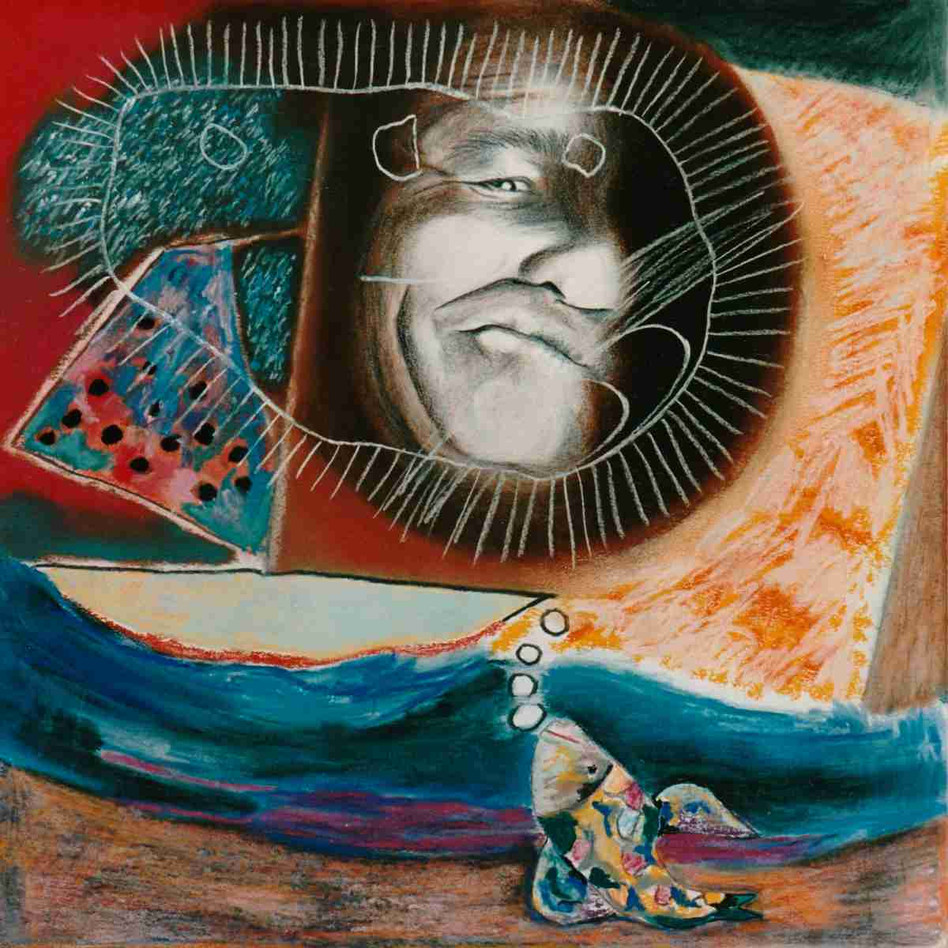 Le passeur des mers du Sud - Pastel - 45 x 45cm - 1989