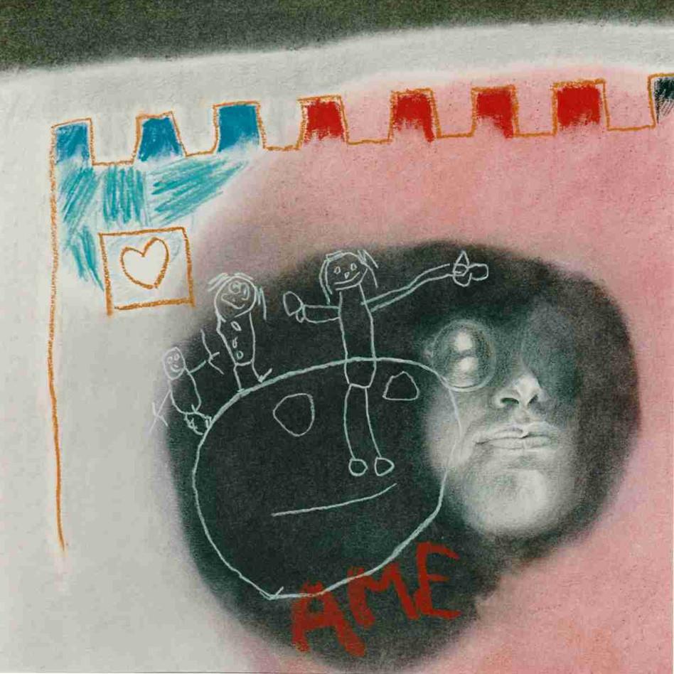 Au sein d'une trouée d'amour - Pastel - 45 x 45cm - 1989