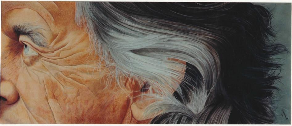 Etude d'un profil pastel - 75 x 180cm - 1982