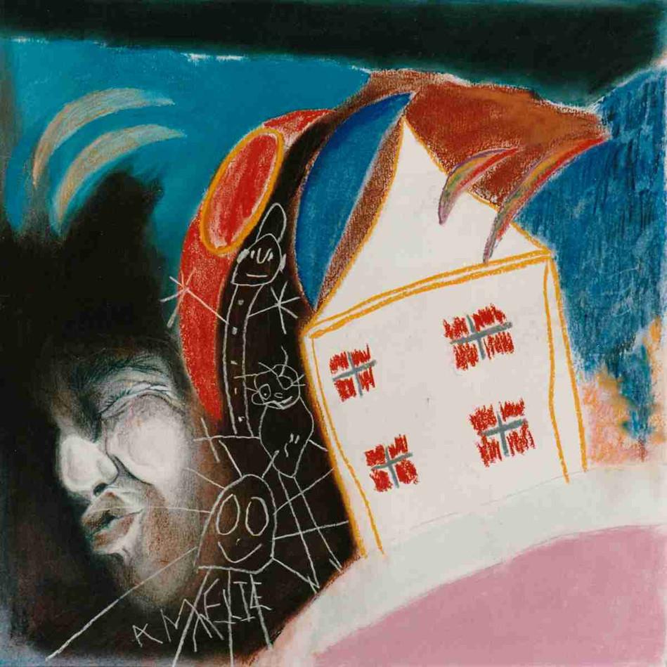 Les rêves accessibles sont les plus douloureux - Pastel - 45 x 45cm - 1989