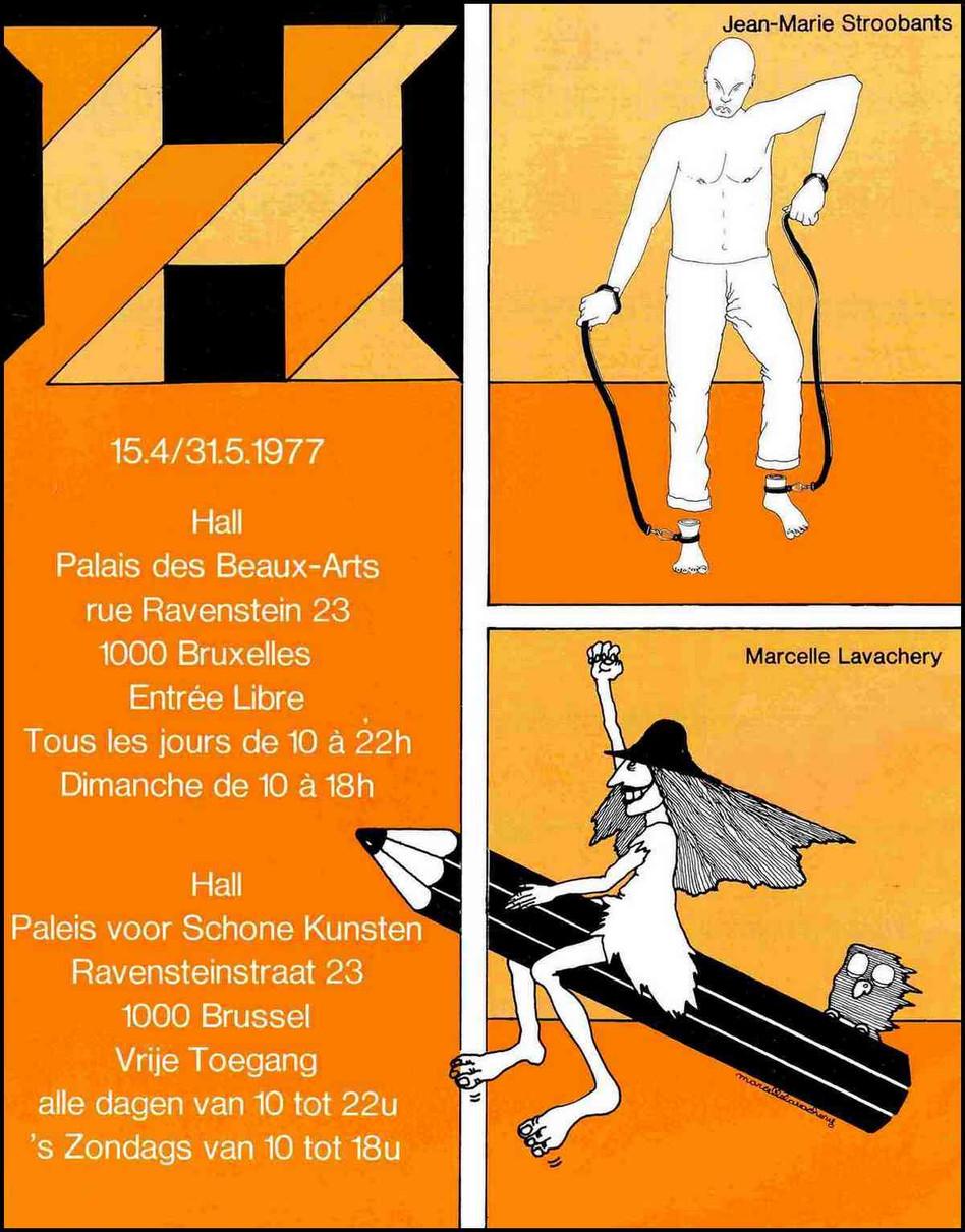 Affiche de l'exposition des 10 dessinateurs de presse - 1977