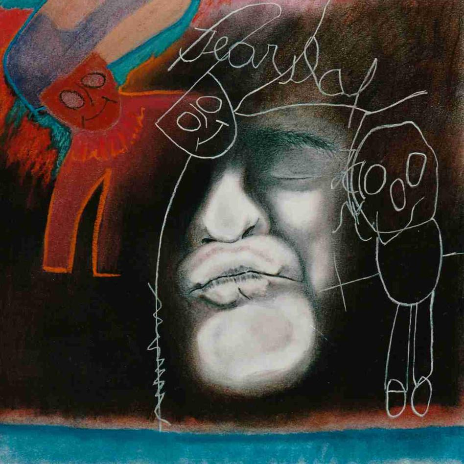 Calme inquiet d'une nuit peuplée - Pastel - 45 x 45 cm - 1989