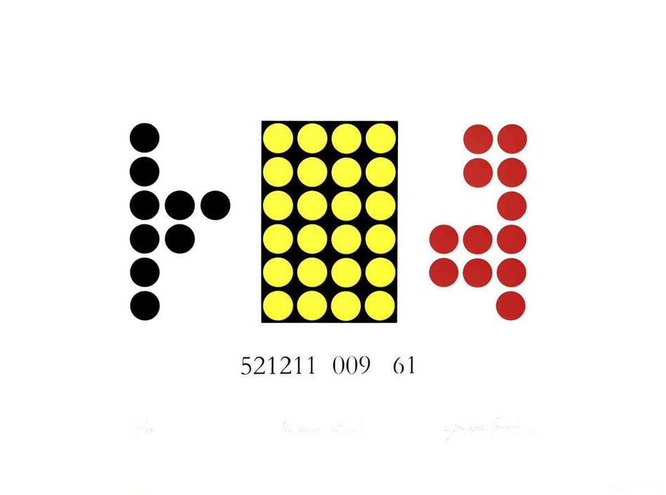Un numéro national - Sérigraphie trois couleurs sur papier  48 x 64cm - 2006