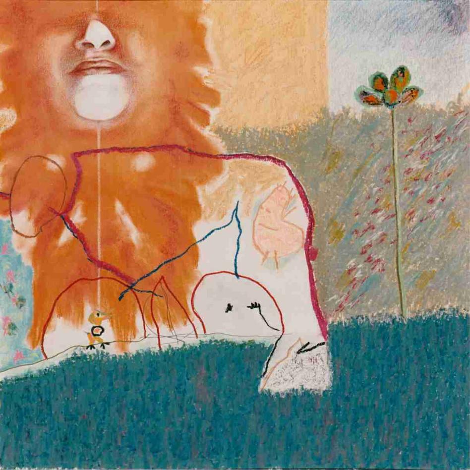 Rêve d'un jardin rue de Lausanne - Pastel - 45 x 45cm - 1989