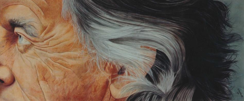 Fragment de visage - Pastel  75 x 180cm - 1982