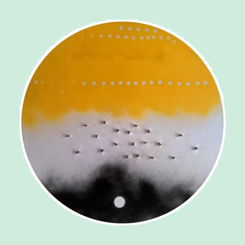 Peinture à l'huile et aimants sur acier 2mm - Ø 57cm - 2018