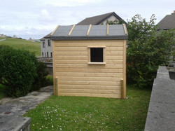 shiplap clad shed