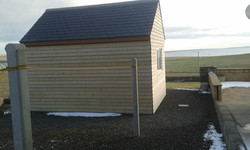 double skinned shed with slate roof
