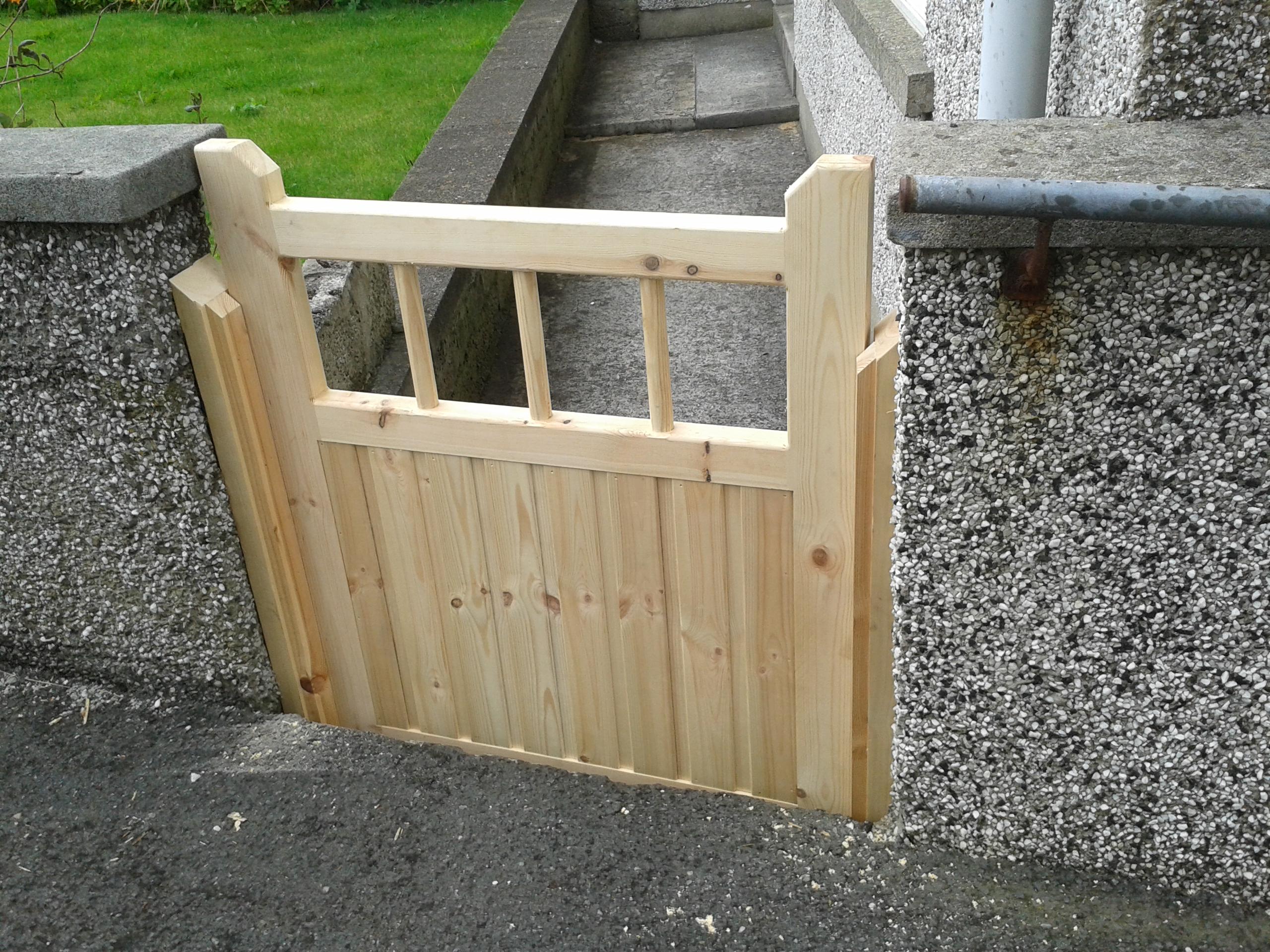 redwood garden gate