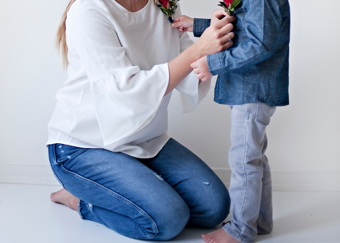 Mother & Son Flower Photoshoot