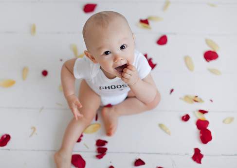 Baby Boy Flower Shoot