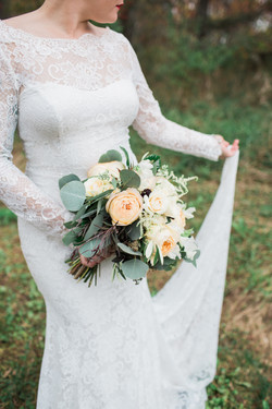 Caramel Antique Rose Bridal Bouquet