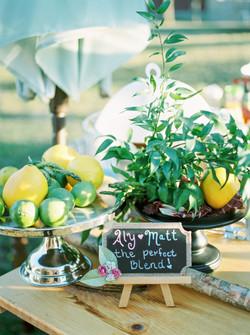 Aspen Florist Wedding- Bar Greenery