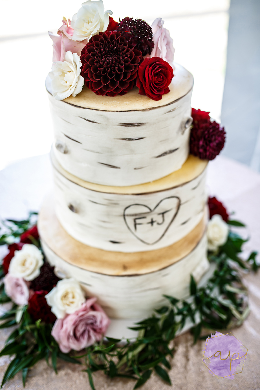 Aspen Florist - Wedding Cake Florals