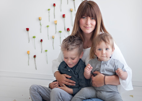 Mom & Sons Flower Photoshoot