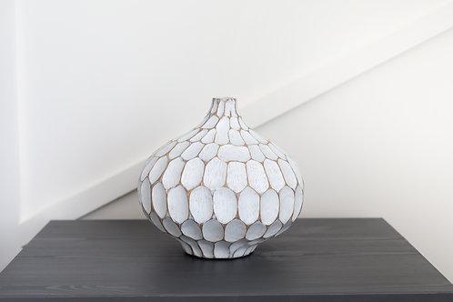 Carved Divot Resin Bubble Vase
