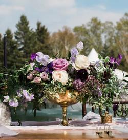 Gold or Silver Pedestal Vases