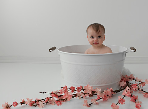 Baby Milk Bath Session w/ Aspen Florist & Petra King Photography