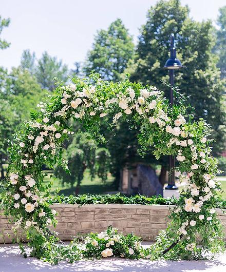 Aspen Florist Moongate Arbour - Whitney