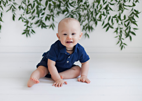 Baby Boy Greenery Photoshoot