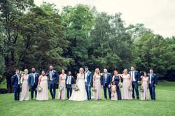 Blush and Navy Bridal Party