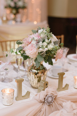 Gold or Silver Bouquet Vases