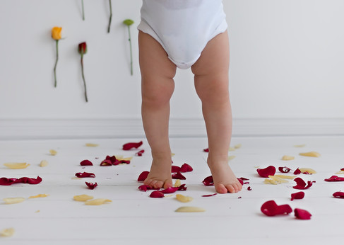 Baby Boy Tip Toes through the Petals