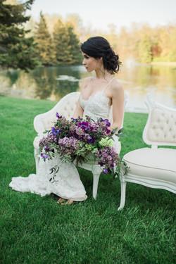 Aspen Florist Lilac Bridal Bouquet