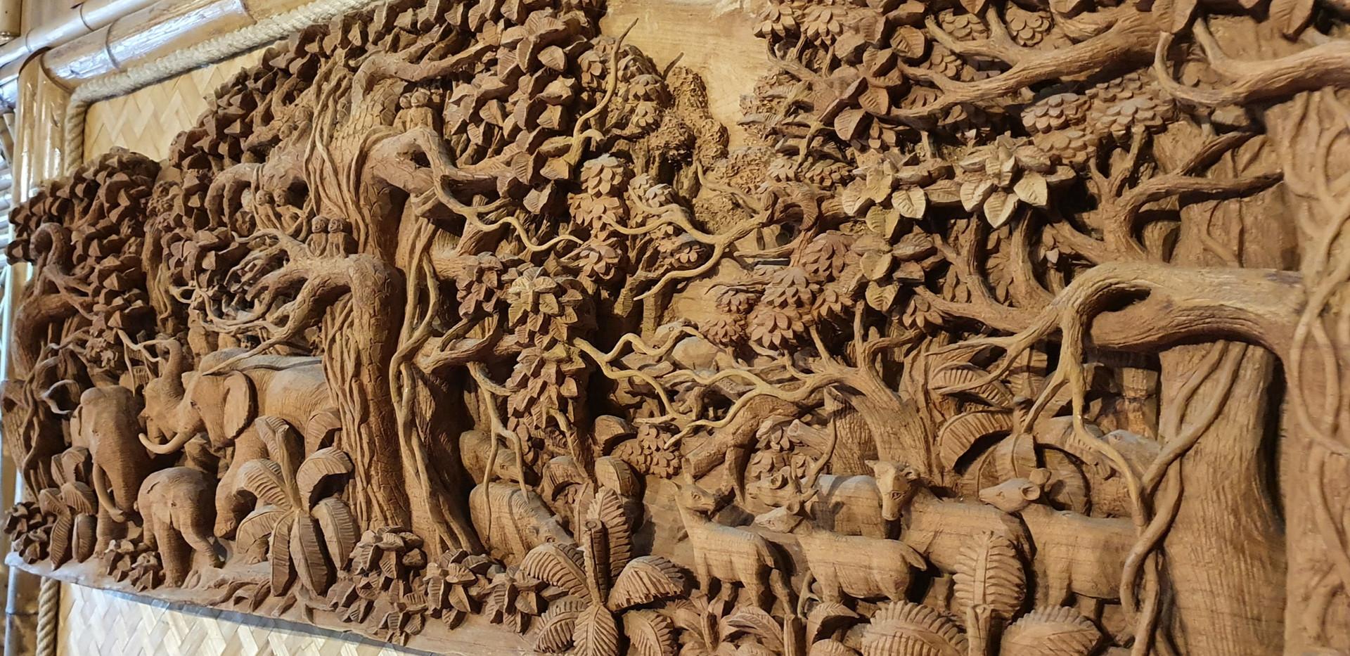 Thailändische Holzschnitzerei
