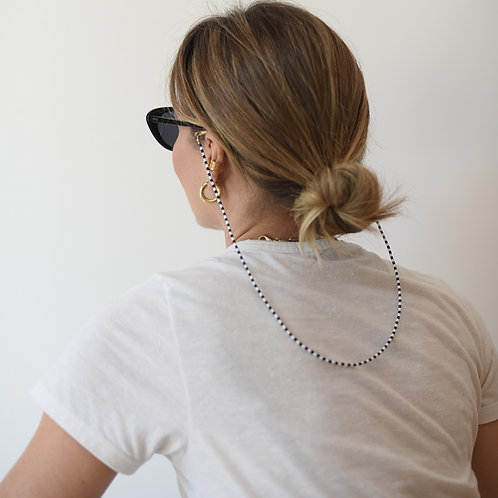 Cordinha de Óculos Black & White All Beads