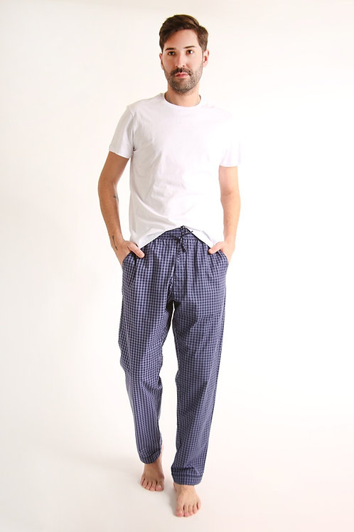 Pijama masculino Calça Azul Vichy Anotheroom