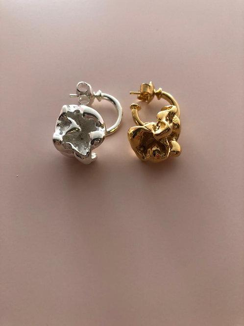 Argolinha Pipoca (Prata e Dourada) Julia Gastin