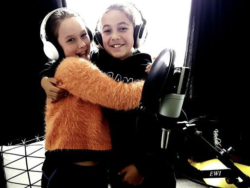 Singing pupils take studio by storm