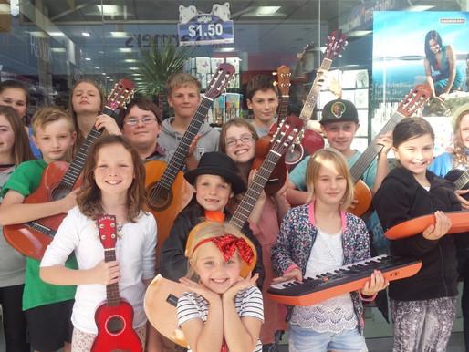 School holiday programme busking