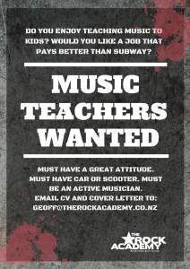 Music Teachers Welllington – Wanted